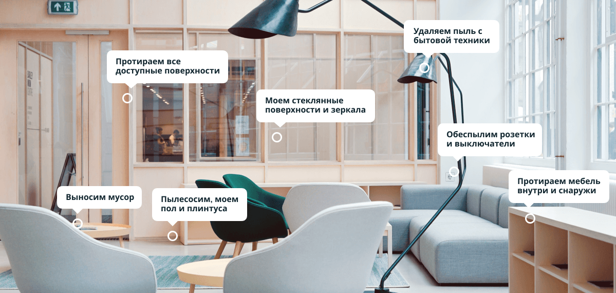 Поддерживающая уборка - Комнаты и коридор.png